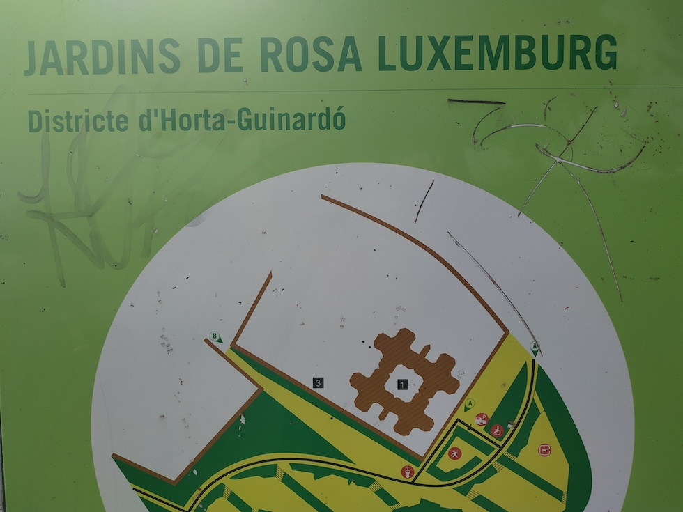 Jardin Rosa Luxemburg - Let's go to Barcelone