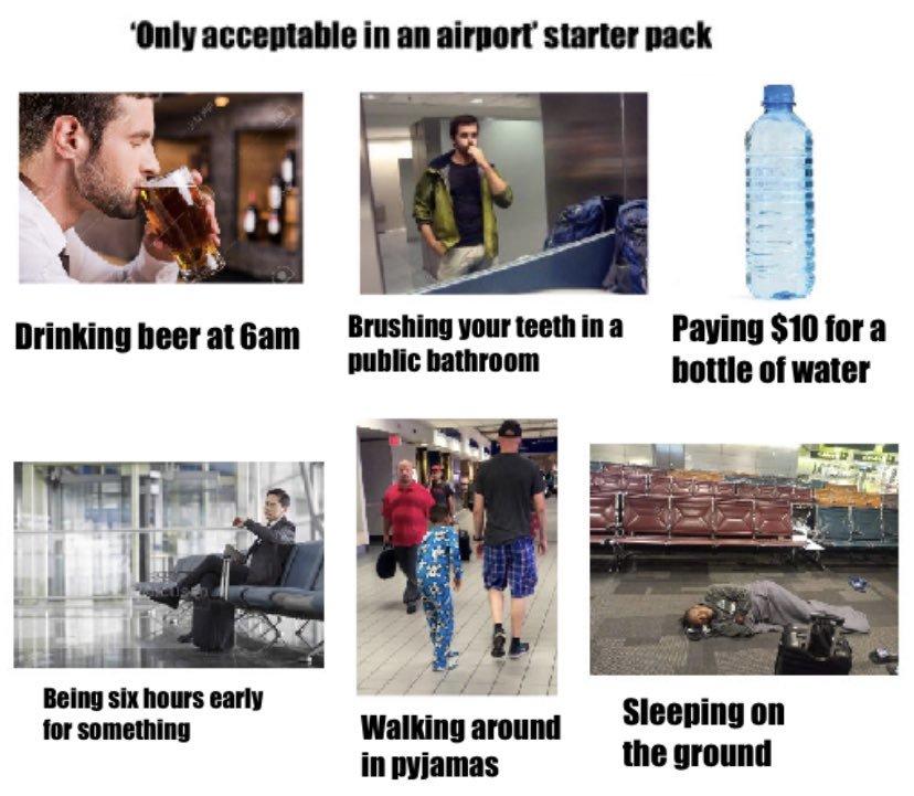 choses acceptables à l'aéroport